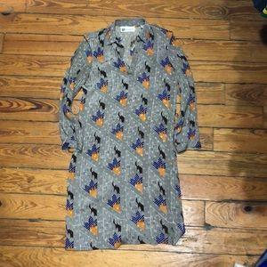 Vintage 80s Pierre Balmain Abstract Dot Dress